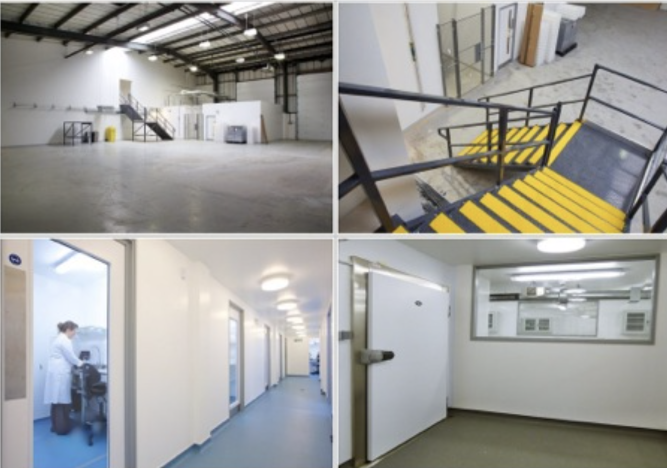 A Warehouse to Laboratory conversion on two floors via mezzanine floor installation.